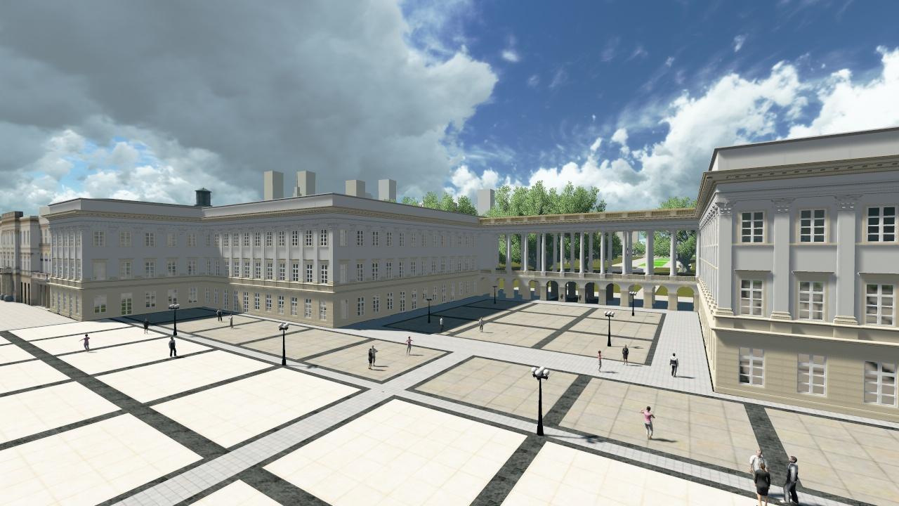 Wizualizacja pałacu Saskiego