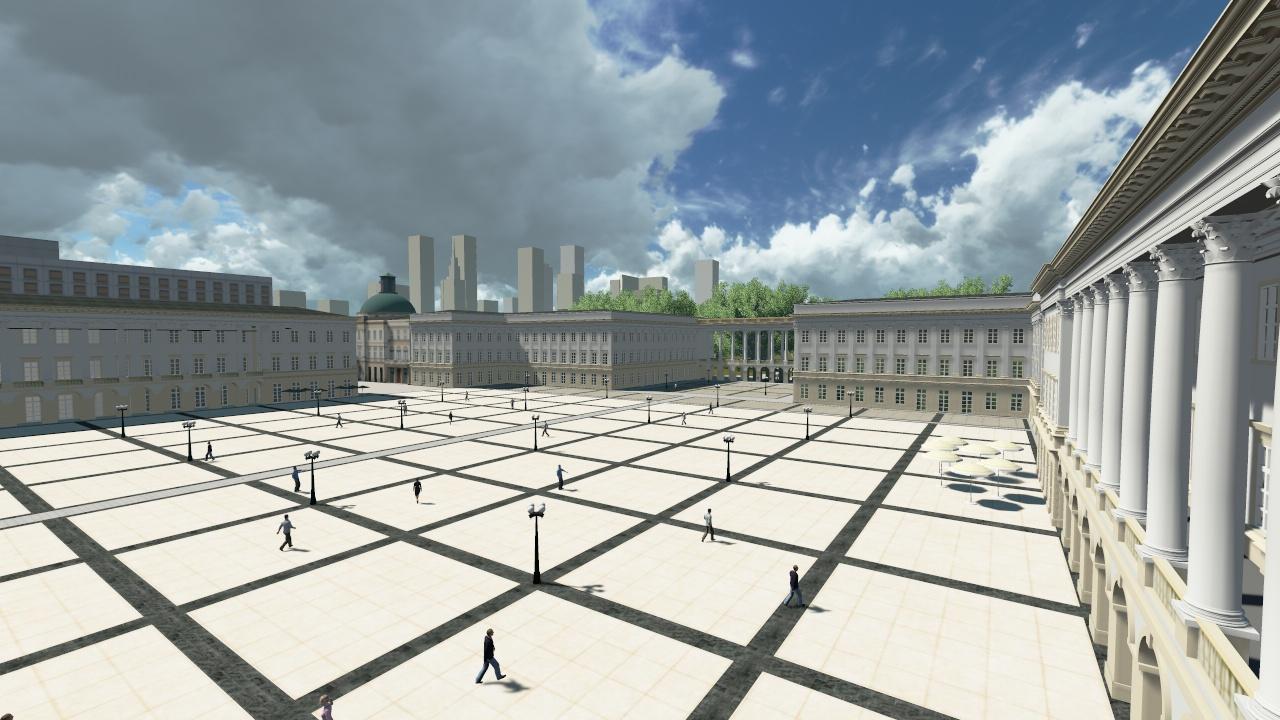 Pałac Saski wraz z propozycją kształtu nowych oficyn (fot. Grupa M20)