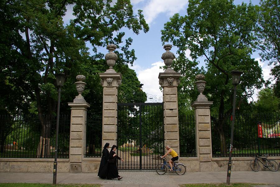 Z ogrodu Ogrodu Krasińskich zniknęła zieleń?