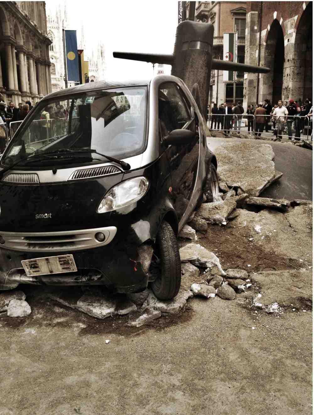 Uszkodzeniu uległ samochód