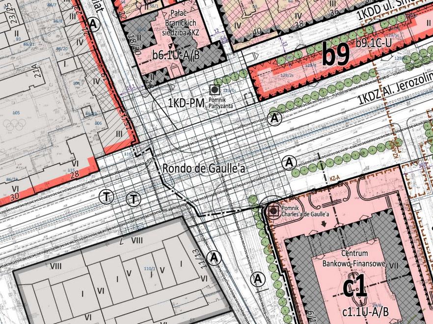 Inkryminowany fragment MPZP Foksal - rysunek skrzyżowania w miejscu ronda de Gaulle'a jest tzw. informacją planu - nie jest ustaleniem planu.