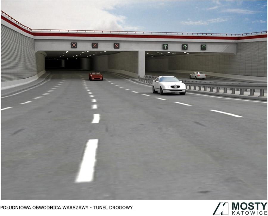 Tunel Południowej Obwodnicy Warszawy na Ursynowie