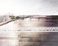 Studencki projekt mostu Karowa wyłącznie dla pieszych. fot. M. Dembowska