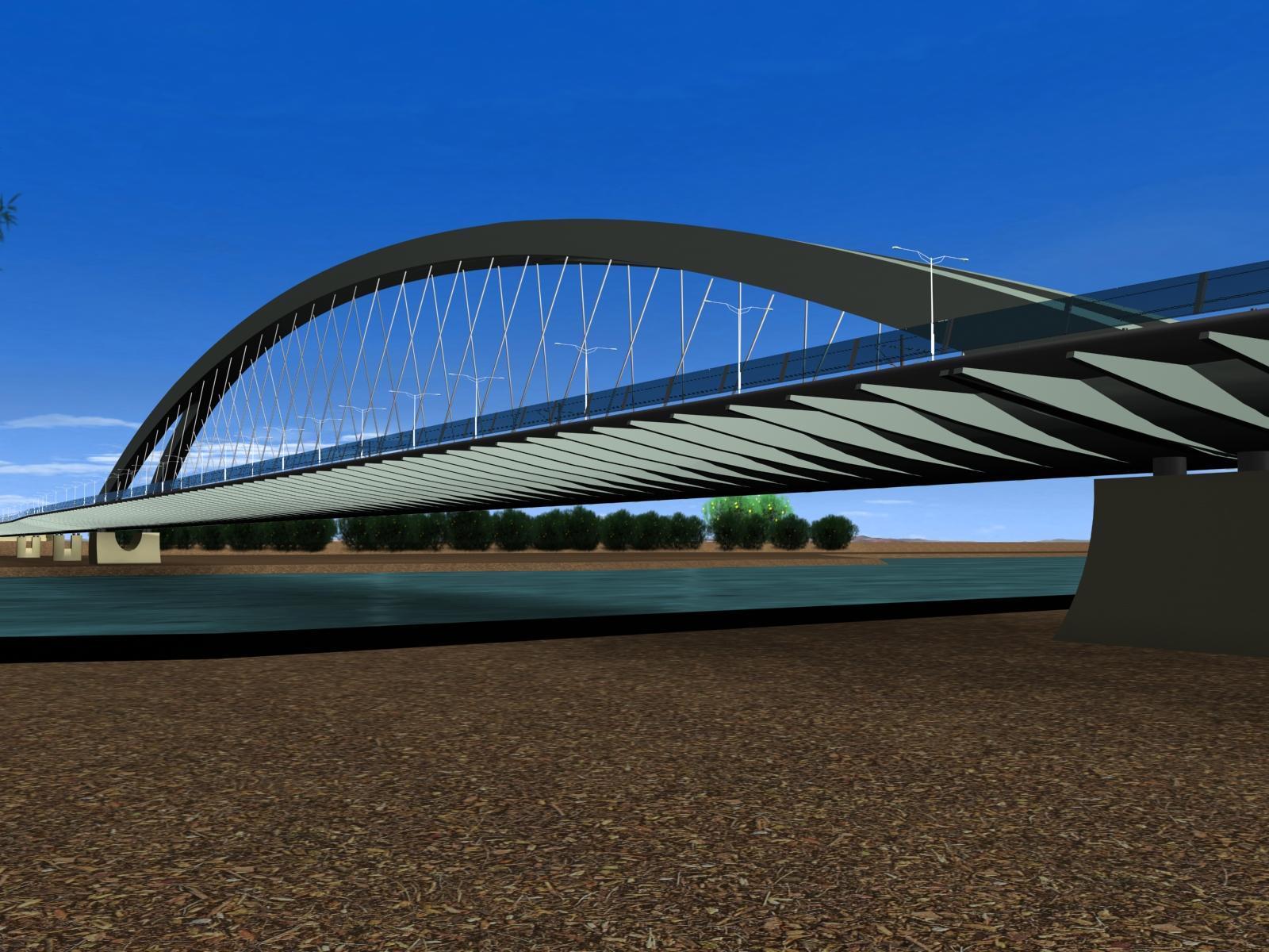 wizka projektu mostu Krasińskiego (za: siskom.waw.pl)